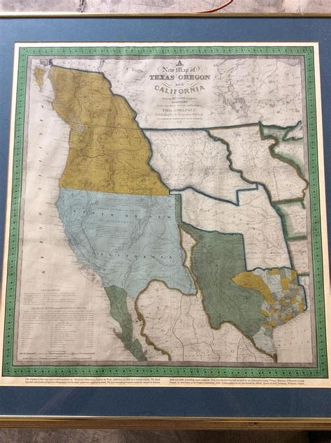 framed map of texas framed map of texas oregon and california