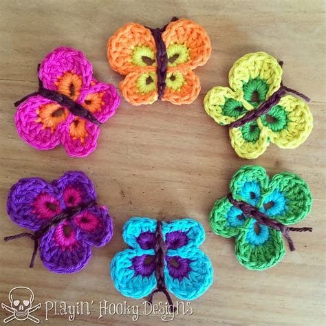 pin crochet butterfly pattern on pinterest you ll love these crochet butterflies the whoot