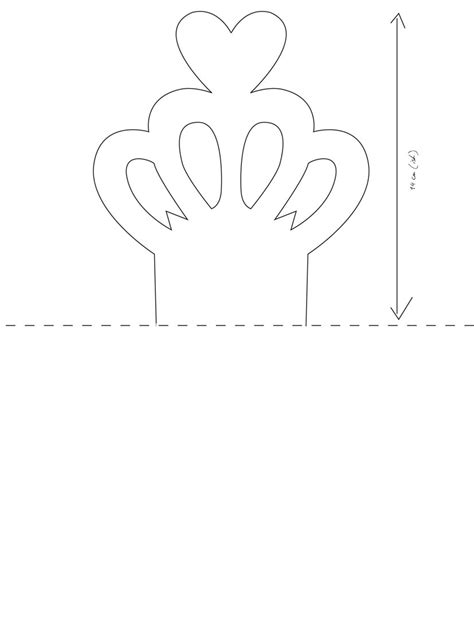 cardboard crown template paper crown cut out pictures to pin on pinsdaddy