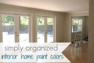Painting My Home Interior My Home Interior Paint Color Palate Simply Organized