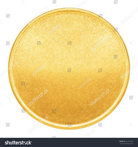 blank template gold coin medal metal stock photo 241407070