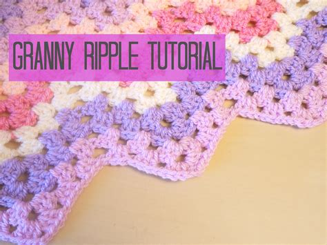 granny zig zag crochet pattern tutorial for the granny ripple chevron blanket in uk