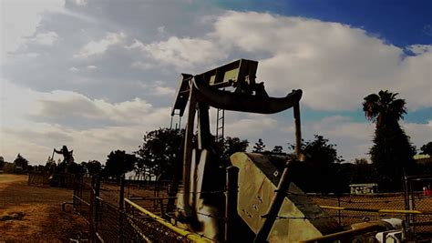 section 8 santa fe springs oil pump jack stock footage video shutterstock
