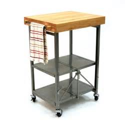Origami Folding Kitchen Cart - origami butcher block kitchen cart