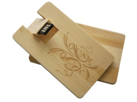 Wooden Usb Tali 8 Gb Branding Uv Print wooden bamboo usb credit card usb flash drive supplier for corporate giveaways promtional