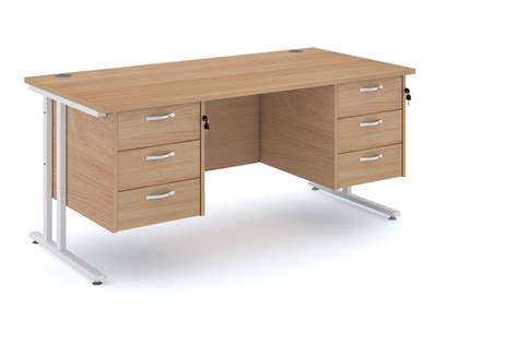 Cl On Desk Dividers by Frame Desk With Drawer Maestro 25 Sl