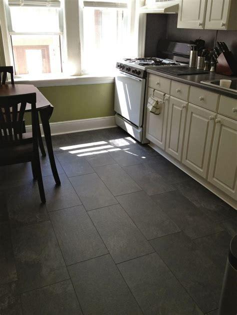 Pergo monson slate flooring, though the blogger says it