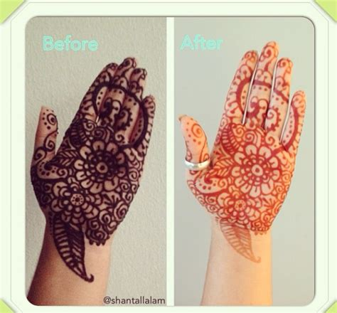 henna tattoo before and after henna before and after makedes