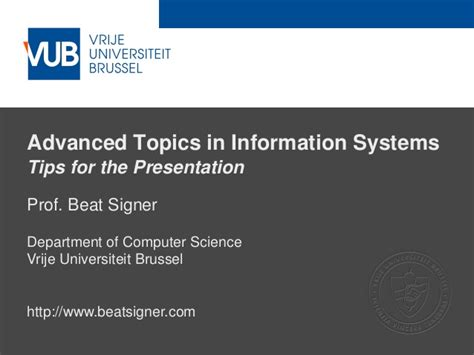 Mba Information Systems Project Topics by Tips For The Presentation Lecture 2 Advanced Topics In