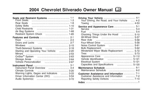 free online auto service manuals 2004 chevrolet silverado 3500 user handbook service manual 2005 chevrolet silverado 3500 workshop manual automatic transmission service