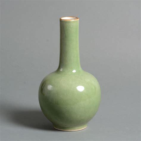 Bottle Vase by A 19th Century Celadon Porcelain Bottle Vase Timothy