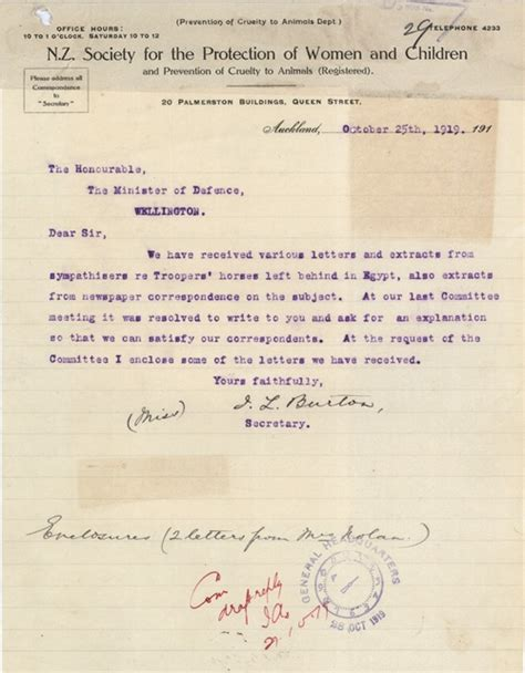 Letter To New Zealand Mistreatment Of Horses Letters Nzhistory New Zealand History