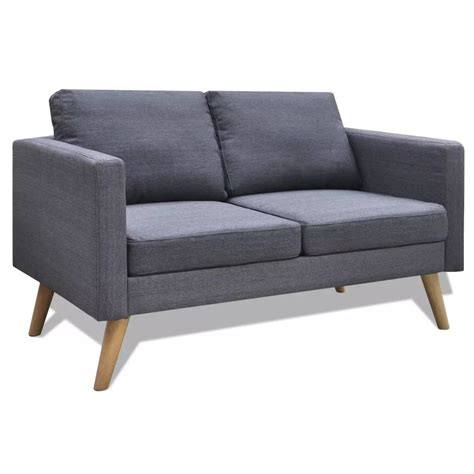 2 Seater Grey Sofa by Grey 2 Seater Fabric Sofa Www Vidaxl Au