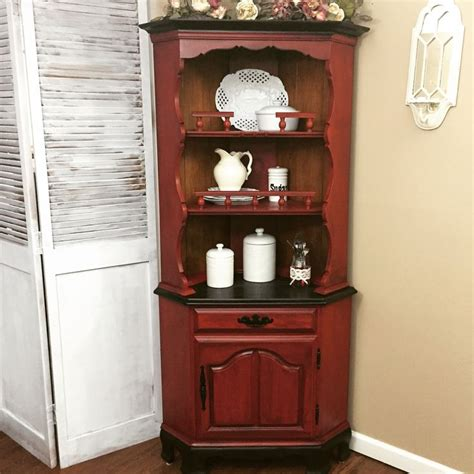 beautiful farmhouse hutch corner china cabinet painted