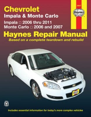 security system 2007 chevrolet monte carlo user handbook chevrolet impala monte carlo haynes repair manual 2006 2011 hay24047