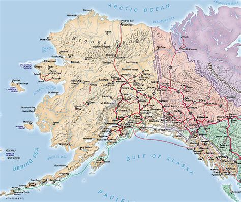 road map alaska usa alaska tourist