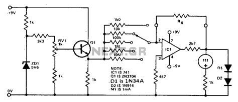 resistor meter circuit gt meter counter gt meters gt linear scale ohmmeter l12946 next gr