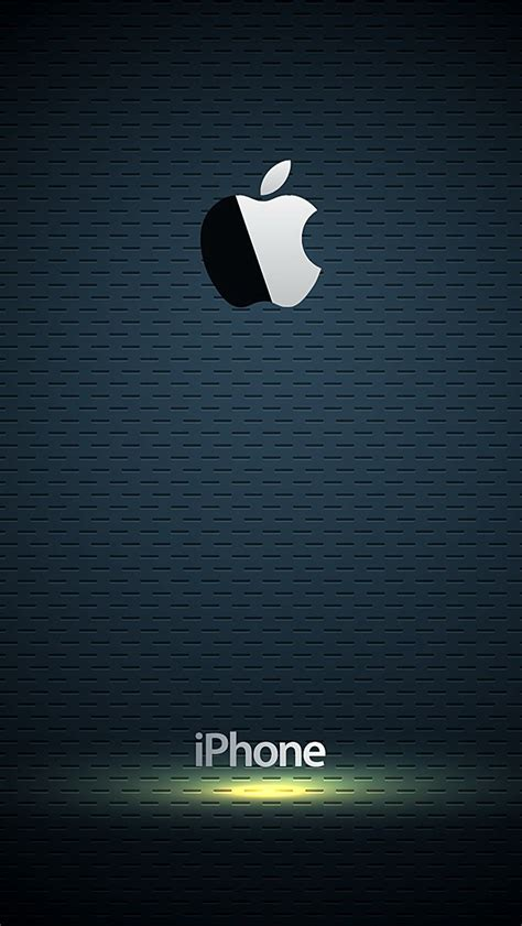 iphone wallpaper hd logo glossy apple logo with blue background wallpaper free