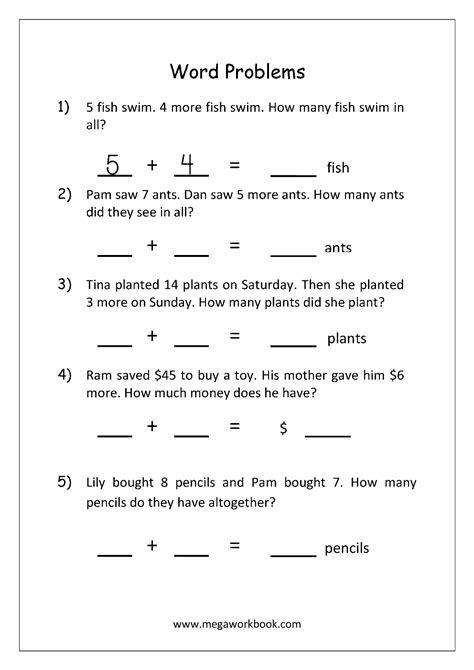 word problem addition worksheets adding money word problems integer number line worksheets
