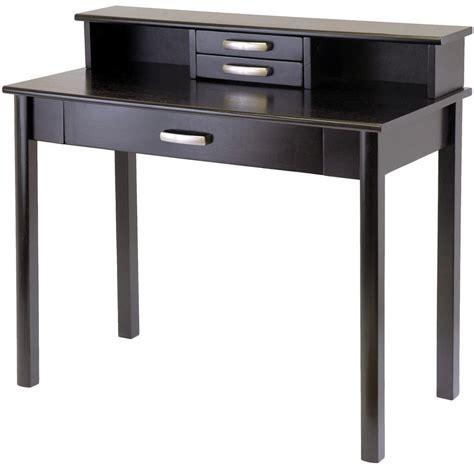 espresso computer desk with hutch liso espresso computer desk with hutch from