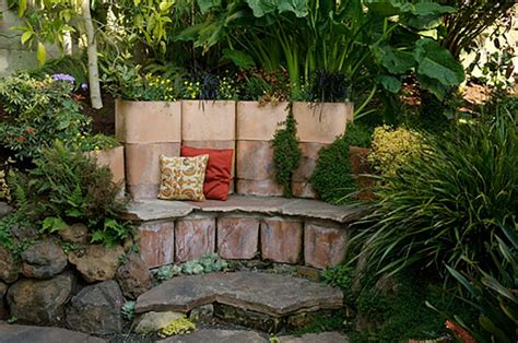 Garden Clay Chimney Terra Cotta Chimney Flue Planter And Bench Gardening
