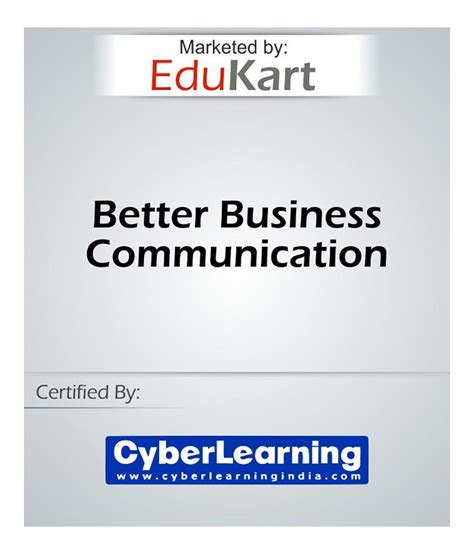 better business communication better business communication course by edukart buy
