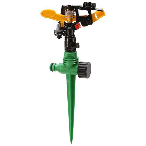 Sprinkler Spray Nozzle Air Irigasi Taman Copper 4 Holes garden sprinkler spike lawn grass 360 degree adjustable rotating water sprayer for garden