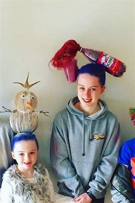 diy crazy hairstyles crazy hair day ideas these parents take things to a whole