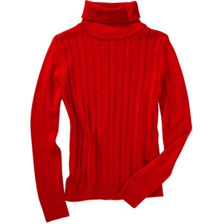 white stag women's turtleneck sweater walmart.com