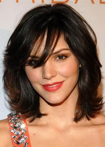 above shoulder wavy hair with bangs above shoulder length hairstyles my hairstyle pinterest