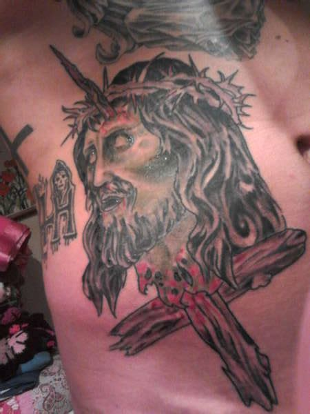 did jesus have a tattoo jesus decapitated and impaled by inverted cross