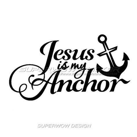 Auto Sticker Jesus by 2018 Cool Car Stickers Jesus Is My Anchor Stickers