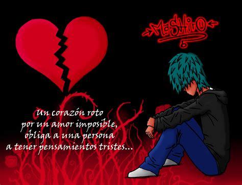 imagenes de amor roto con frases corazones rotos para compartir en facebook con frases love