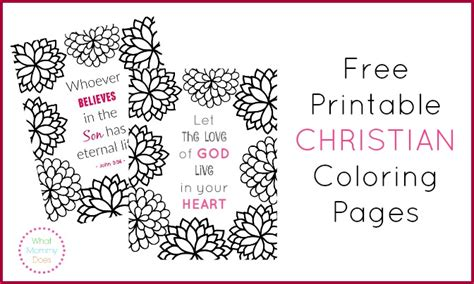 free printable christian coloring pages what does