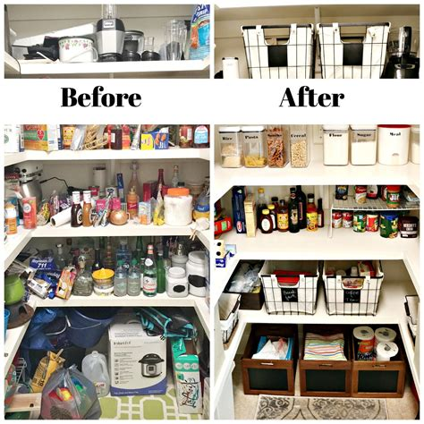 before and after organizing 5 steps to organize pantry refresh restyle