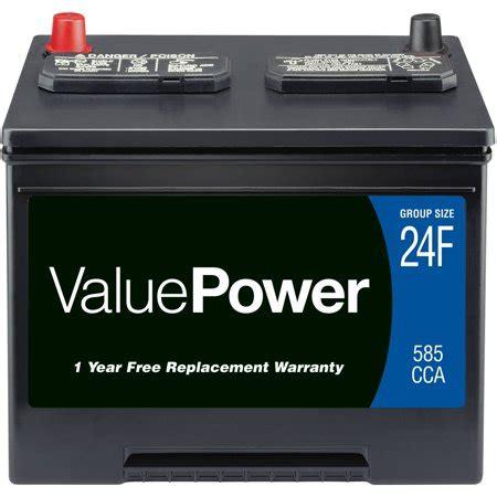 valuepower lead acid automotive battery, group 24f