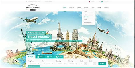 themeforest travel agency travel agency bootstrap template by mecovache themeforest
