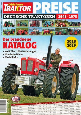 Oldtimer Motorrad Preise 2018 oldtimer traktor sonderheft 1 preise 2018 2019 oldtimer