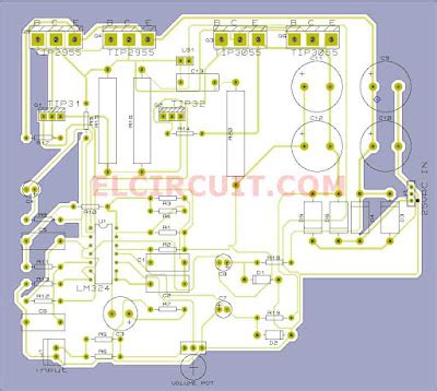 layout pcb home theater 5 1 subwoofer home theater power amplifier electronic circuit