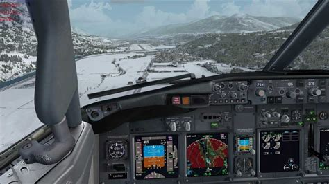 beautiful vortex from 737 800 landing in cat ii fsx pmdg sas 737 700 ngx landing innsbruck austria lowi
