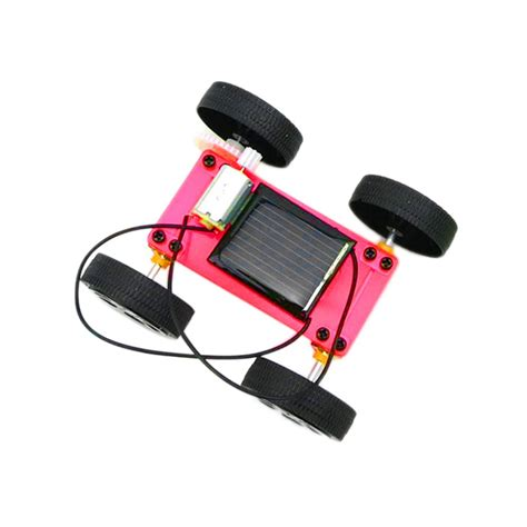 gadget new new arrival 1pc self assembly mini solar powered diy car