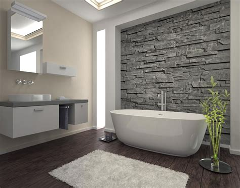 wooden cladding for bathrooms the faux wood flooring in this bathroom complements the