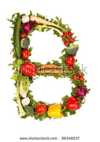 letter b vegetables vegetable alphabet letter quot b quot stock photo 86346037