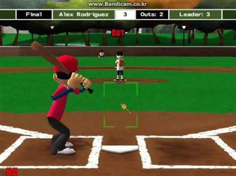 backyard baseball 09 backyard baseball 09 home run derby youtube
