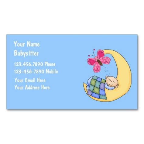 cross babysitting business card template 140 best images about babysitting business cards on