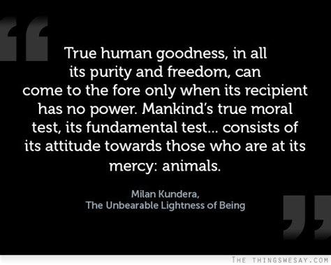 Milan Kundera The Unbearable Lightness Of Being by True Human Goodness In All Its Purity And Freedom By