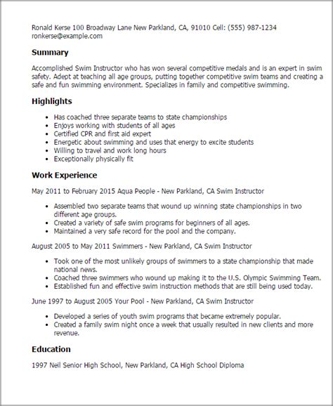 fitness instructor resume personal group fitness trainer resume