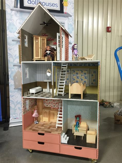 townhouse wooden barbie doll house kit martin dollhouses