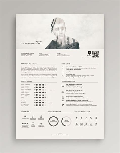 3d layout artist resume damn cool resume he mixed the double exposure for his
