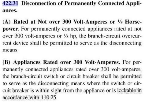 section 422 of the code furnace disconnect requirements homesmsp